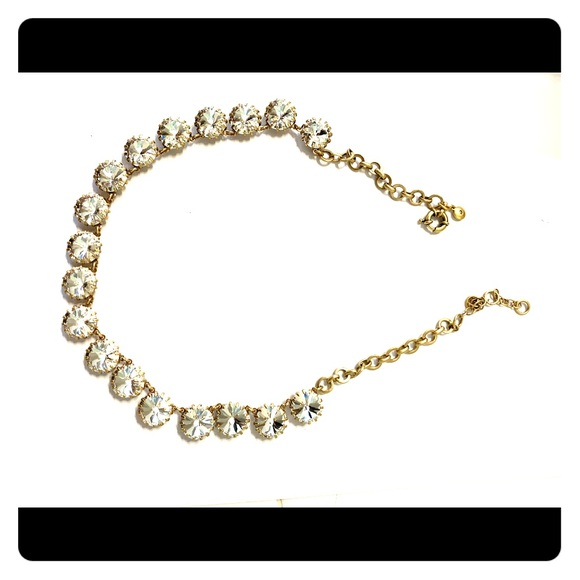 J. Crew Jewelry - J. Crew brass-plated crystal necklace!